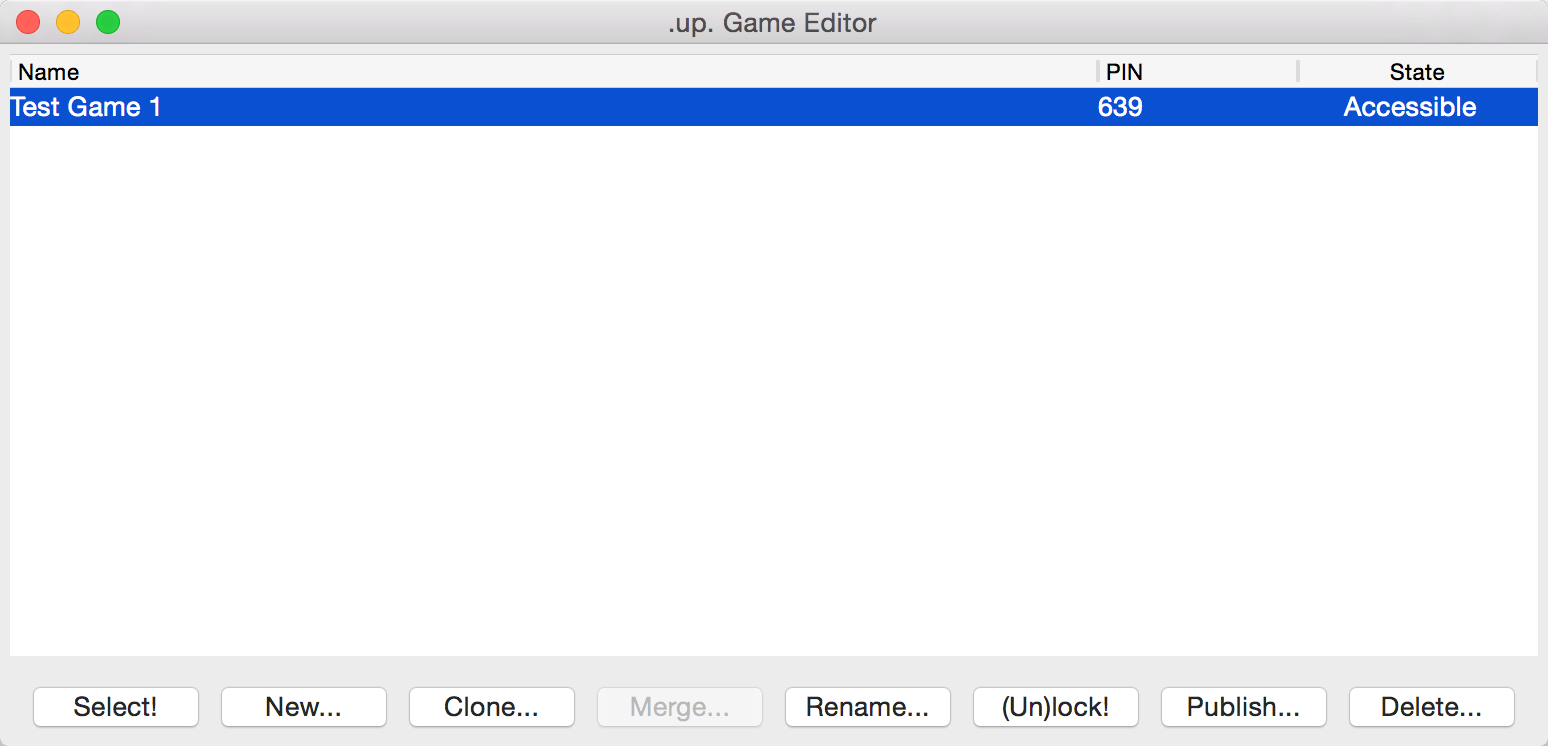 up  - Game Editor Manual Chapter 3