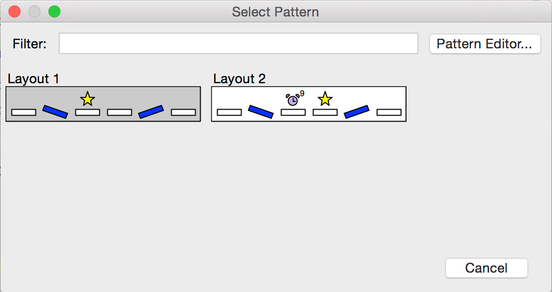 pattern selection dialog